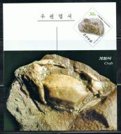 NORTH KOREA 2013 FOSSILS POSTCARD - Fossils