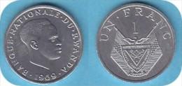 LOT N° 8893 *RWANDA_1 FRANC_FDC-UNC_ANNEE 1969_ LOT N° 8893 - Rwanda