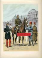 GROUPES DE CAVALIERS D ECOLE GRANDE TENUE ET TENUE DE TRAVAIL CAVALIERS D ECOLE INDIGENES - Uniforms