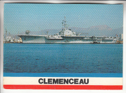 BATEAUX DE GUERRE ( FRANCE ) : Le Porte Avions CLEMENCEAU - CPM GF 1989 - War Ship Boat - Guerra