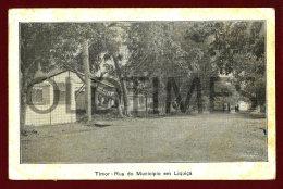 TIMOR - RUA DO MUNICIPIO EM LIQUIÇA - 1940 PC - Timor Oriental