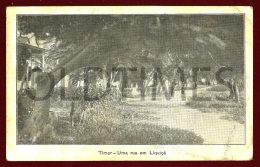 TIMOR - UMA RUA EM LIQUIÇA - 1940 PC - Timor Oriental