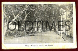 TIMOR - TRECHO DE UMA RUA EM LIQUIÇA - 1940 PC - Timor Oriental