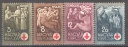 49-190 // H - 1942  RFED CROSS -  ROTES KREUZ  Mi 691/94** - Ungheria