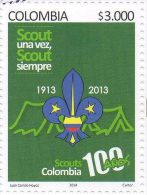 A188.-. KOLUMBIEN / COLOMBIA  2014 ISSUE. SCOUTS MNH.-.  100 YEARS IN COLOMBIA 1913-2013 - Colombia