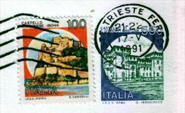 TRIESTE FERROVIA - Anno 1991 - Timbri