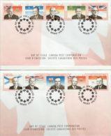 CANADA, 1998, # 1709a-j, Provincial Premiers Set Of 2 OFDC - 1991-2000