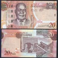 BOTSWANA : Banconota 20 Pula - 2009 - FDS - Botswana