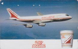 Télécarte Japon - AVION - AIR INDIA - AIRLINES Plane JAPAN Phonecard - FLUGZEUG Telefonkarte - Aviation 713 - Avions