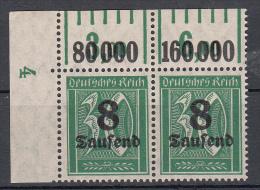 Deutsches Reich - Mi. 278x P/W OR ** - Neufs