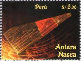 Lote P2014-3, Peru, 2014, Sello, Stamp, 2 V, Instrumentos Musicales, Music Instruments,  Indigenous Themes - Peru