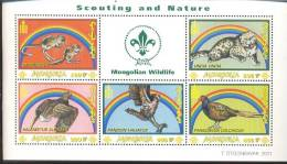 MONGOLIA   2497 MINT NEVER HINGED MINI SHEET OF WILDLIFE & ANIMALS   # M-0814-1  ( - Zonder Classificatie