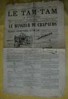 JOURNAL LE TAM TAM 4 mars 1877 HUMORISTIQUE Affaire du mangeur de crapauds M. Commerson et M. Amable Bapaume