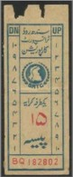 Pakistan Sind Old Bus Transport  Ticket  Value 15 Paisa