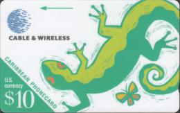 Caribbean - GPT - Generic - GEN-214A - Lizard - $10 - 214BCAA - RR - Schede Telefoniche