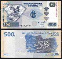 CONGO DEM. REP.  : Banconota 500 Franchi - 2002 - FDS - Zonder Classificatie
