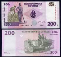 CONGO DEM. REP. : Banconota 200 Francs - 2000 - FDS - Zonder Classificatie