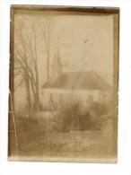 55 LE CLAON - ARGONNE Photo Originale De L'église Pendant La Guerre 14/18 - Autres Communes