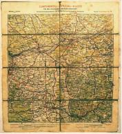 Alte Strassenkarte Ca. 1910 - Frankfurt A. Main - Continental-Spezial-Karte Für Den Automobil- Und Fahrradverkehr - Strassenkarten