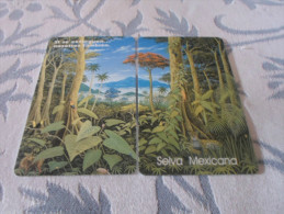 MEXICO - RARE puzzle set 2 prepaid phonecards