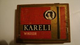 BOITE DE CIGARE     KARELI   WINDSOR   EN BOIS  VIDE - Boites à Tabac Vides