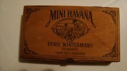 BOITE DE MINI HAVANA CIGARE  HENRI WINTERMANS . EN BOIS  VIDE - Boites à Tabac Vides