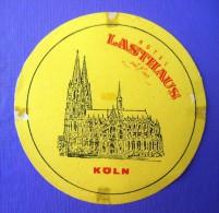 HOTEL PENSION LAST HAUS KOLN COLOGNE GERMANY DEUTSCHLAND TAG DECAL STICKER LUGGAGE LABEL ETIQUETTE AUFKLEBER BERLIN - Hotel Labels