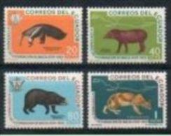 Équateur 1960 656 - 659 ** Fondation De Baeza - Fourmilier - Tapir - Ours - Puma - Ours
