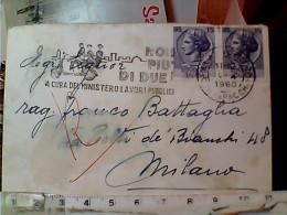 BUSTA  CON ANNULLO TARGHETTA  MOTO NON PIU DI DUE 1960 DA MILANO X MI EN9958 - 6. 1946-.. Repubblica