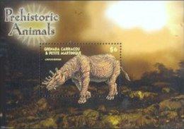 Grenada Grenadines 2005 Souvenir Sheet Dinosaur Prehistoric #2600-Uintatherium - Grenada (1974-...)