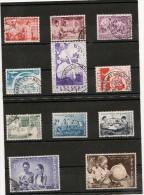 BELGIQUE Année 1960 N°Y/T : 1139/1149 Oblitérés