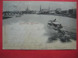"Dresden - Mondscheinkarte ""Gruss Aus Dresden"" 1897 - Dresden"