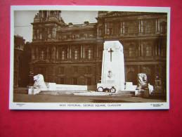 CPSM PHOTO  ECOSSE   WAR MEMORIAL GEORGE SQUARE GLASGOW   NON VOYAGEE    CARTE EN TRES  BON ETAT