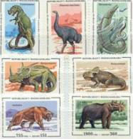 Madagascar/Malagasy 1995 Set/7 Plus Souvenir Sheet Prehistoric Dinosaur  #1174-81 - Madagascar (1960-...)