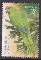 2009. AUSTRALIAN DECIMAL. Joint Territories. Species At Risk. 55c. Norfolk Island Green Parrot. FU. - 2000-09 Elizabeth II