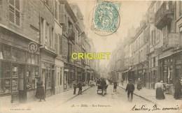 39 Dole, Cp Pionnière, Rue Besançon, Belle Animation, Commerces...., Affranchie 1904 - Dole