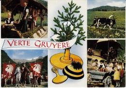 Verte Gruyère, La Poya, Montée à L'alpage / Collection De Six Cartes Magnifiques - FR Fribourg
