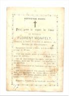Faire-part De Décès De Florent MONFELT, Notaire Et échevin - SAIVE 1865 (b157) - Overlijden