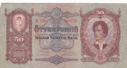 2058A,  BANKNOTE, 50, OTVEN PENGO, 1932, HUNGARY. - Ungheria