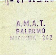 PALERMO / BIGLIETTO INTERNO A.M.A.T. DA MACCHINA DI BORDO 242