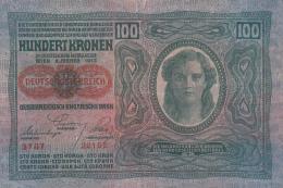 2058A,  BANKNOTE, 100, HUNDERT KRONEN, OVERPRINT,  1912, HUNGARY. - Ungheria
