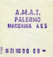 PALERMO / BIGLIETTO INTERNO A.M.A.T. DA MACCHINA DI BORDO 465