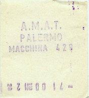 PALERMO / BIGLIETTO INTERNO A.M.A.T. DA MACCHINA DI BORDO 429