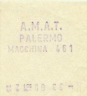 PALERMO / BIGLIETTO INTERNO A.M.A.T. DA MACCHINA DI BORDO 461