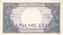 2058A,  BANKNOTE, 1000, UNA MIE LEI, 1945,  ROMANIA. - Rumania