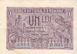 2058A,  BANKNOTE, 1, UN LEU 1938,  ROMANIA. - Rumania