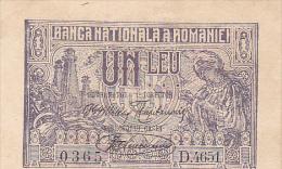 2058A,  BANKNOTE, 1, UN LEU 1920,  ROMANIA. - Romania
