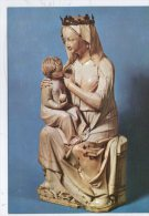 ECOLE FRANCAISE. STATUETTE IVOIRE VIERGE ASSISE - Sculptures