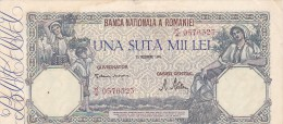 2058A,  BANKNOTE, 100.000, UNA SUTA MII LEI, 1945, ROMANIA. - Romania