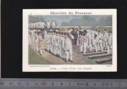 Chromo Circa1900 - Chocolat Du Planteur - Goupil - Militaire - Genie 39 Pose Voie Ferrée - Chemin De Fer - Other